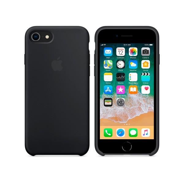 Apple mqgk2zm/a negro carcasa de silicona apple iphone 8/7