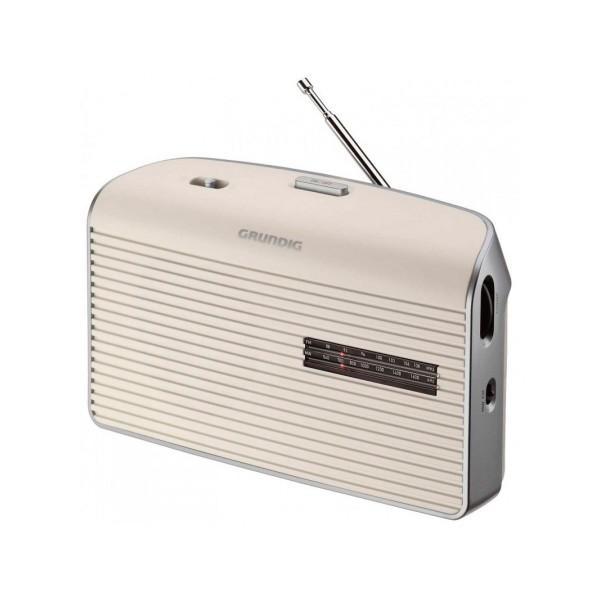 Grundig music 60 blanco radio am/fm de sobremesa portátil con altavoz