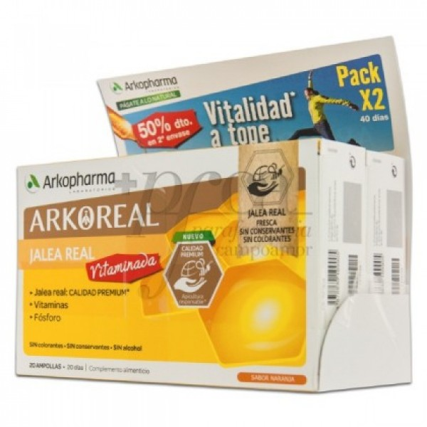 ARKOREAL JALEA REAL VITAMINADA 2X 20 AMPS PROMO