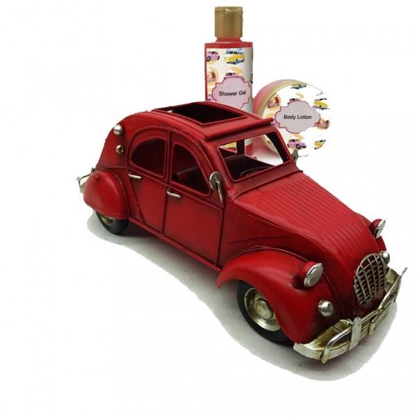 Coche Rojo Vintage Decorativo Shower gel 100 ml + Body Lotion 30 ml