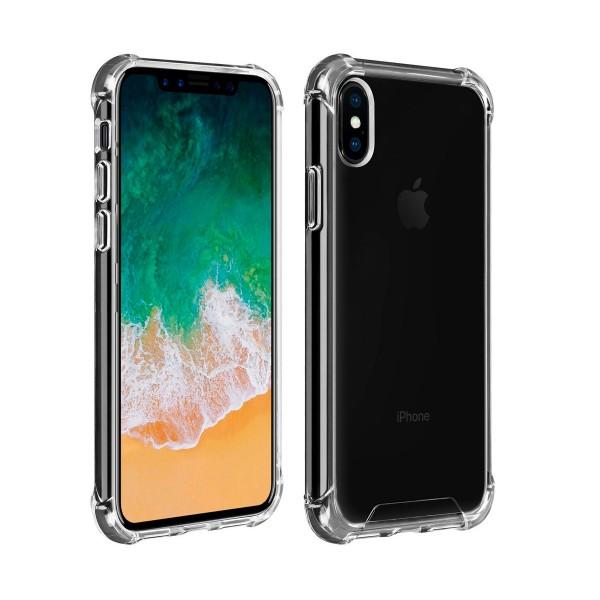 Akashi carcasa trasera transparente resistente apple iphone xs angulos reforzados