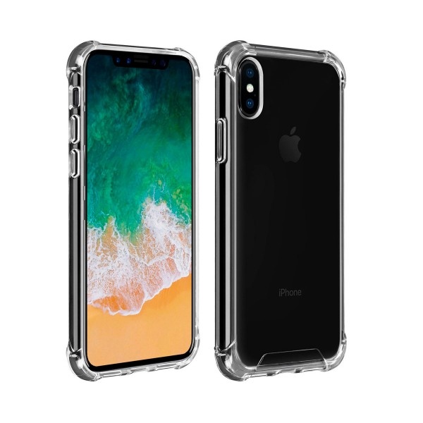 Akashi carcasa trasera transparente resistente apple iphone xs max angulos reforzados