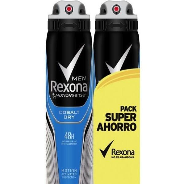 Rexona desodorante Men Cobalt Dry Pack Ahorro 200 ml + 200 ml