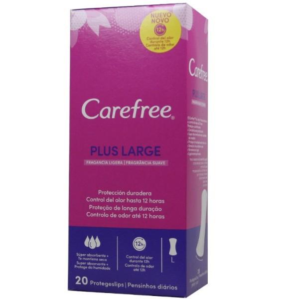 Carefree protegeslip Plus Large 20 uds