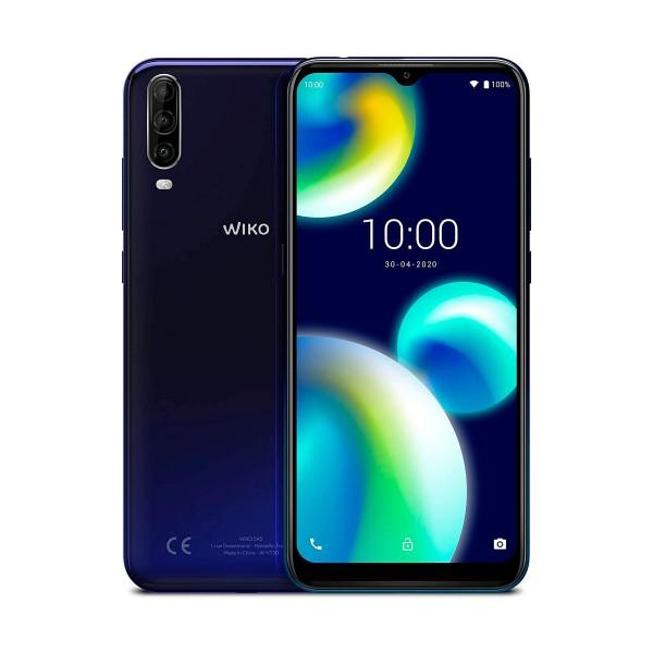Wiko view4 lite azul móvil 4g dual sim 6.52'' hd+ octacore 32gb 2gb ram tricam 13mp selfies 5mp