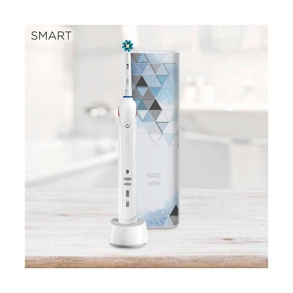 Braun oral-b pro 4500 modern art blanco cepillo de dientes eléctrico recargable con tecnología 3d